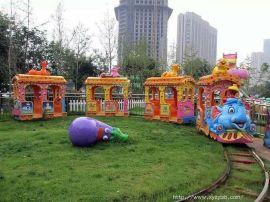 广场电动轨道豪华火车/户外儿童豪华大象火车/公园游乐场游乐设备