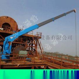 源隆供应固定港口吊机液压船用吊机3吨船吊