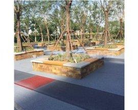 桓石生态透水混凝土地坪在园林铺装中的应用范 县 台前县 濮阳县