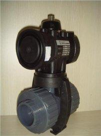 气动调节二通不锈钢螺纹球阀DN50
