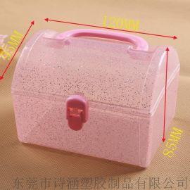迷你手提PP塑料盒 文具礼品包装 小型塑料收纳盒 厂家