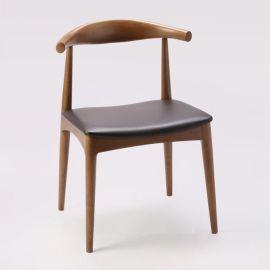 北欧实木餐椅|水曲柳休闲椅子批发|咖啡厅酒店西餐厅餐桌椅组合|