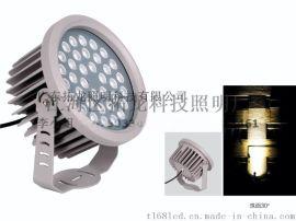 拓龙照明 60W金黄光户外防雨LED投光灯可带挡板