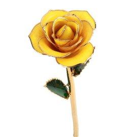 黛雅烤漆玫瑰七夕 山东-24K镀金鲜花玫瑰-真玫瑰镀金批发