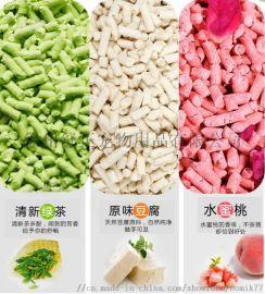 豆腐貓砂,原味綠茶水蜜桃,粗砂細砂,6L