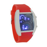 外貿熱銷爆款時尚扇形儀表盤硅膠LED防水手表可定制