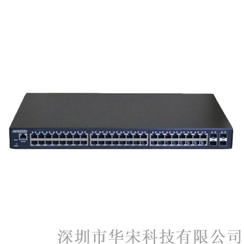 萬兆4光48電光纖交換機網路安防監控網管交換機