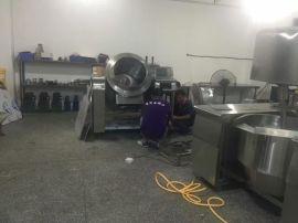 美式爆米花机多少钱,厂家销自动炒料机,大型电磁加热炒锅