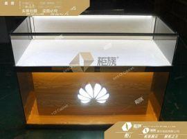 铁质木纹华为手机柜 透光展示柜