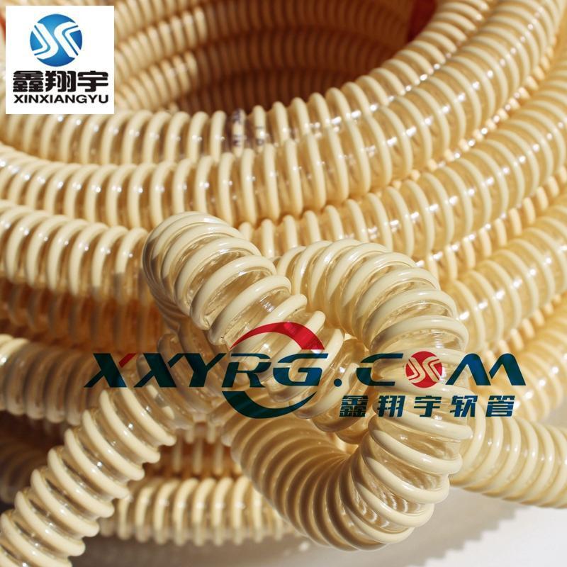 鑫翔宇pu塑筋增強耐磨真空吸塵軟管,波紋管,工業吸塵管