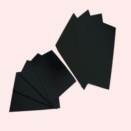 黑卡纸厂家直销 400双透黑卡纸 纸质细腻 表面平整 现货供用