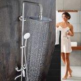 酒店洗浴绮美斯明装不锈钢圆形升降淋浴按摩式手持花洒带水龙头套装