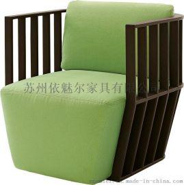 创意中式沙发 实木休闲椅002