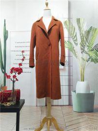 反季促销新款双面羊毛大衣外套 一手货源库存走份批发