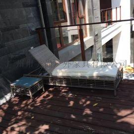 酒店阳台休闲户外躺椅