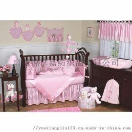 外贸婴儿床品四件套被套被芯床笠床单
