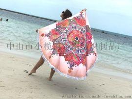 廠家直供超細纖維沙灘巾數碼印花浴巾廣告禮品毛巾