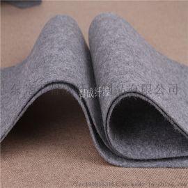 厂家热销弹性毛毡针刺棉无纺布 门襟袖笼用灰色针刺棉