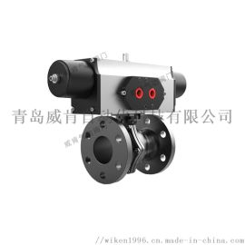 高温气动球阀德国威肯软密封四氟气动螺纹球阀生产定制