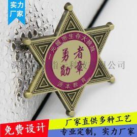 金属徽章定制纪念币胸章勋章胸针校徽制作钥匙扣定做