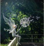 不鏽鋼精靈雕塑 蒲公英鏤空精靈人物雕塑定做