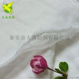 婴儿服装面料棉纱布坯布 精梳紧密纺织三层平纹全棉胚布