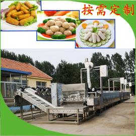 火锅丸子成套加工设备-海产品清洗蒸煮流水线
