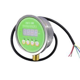 南普科创数字真空表 不锈钢耐震电接点数显真空表ZKY-100