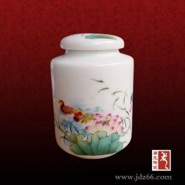 景德镇陶瓷一斤装茶叶罐定做样品图