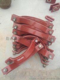 宁德  三孔双扁钢管夹 U型镀锌管卡 滑动型管夹