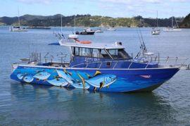 烟台宝船游艇11米铝镁合金钓鱼艇海钓船铝合金游艇