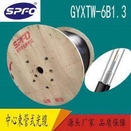 中心束管式光缆GYXTW-6B1.3 6芯单模 室外光缆 管道 架空 直埋