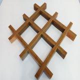 廠家定制氟碳鋁格柵裝飾吊頂木紋鋁格柵規格定制