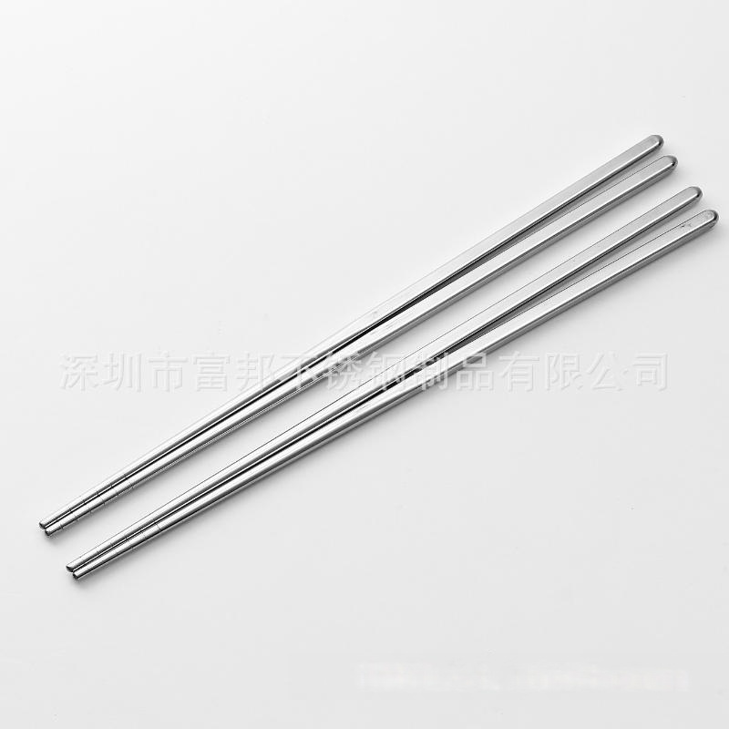 食品级304不锈钢空心筷子不锈钢方筷子防滑筷