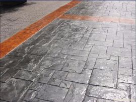 彩色路面艺术水泥压花地坪材料应用于景观道路铺装 桓石 彩色混凝土压印地坪材料专业生产厂家