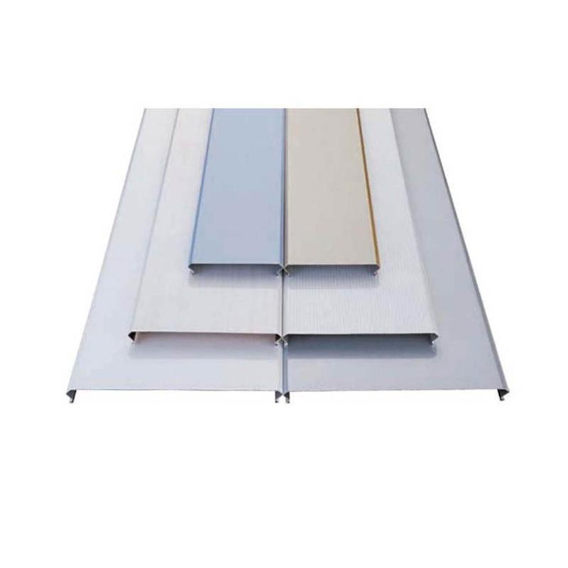 厂家定制防风铝扣板加油站装饰吊顶铝条扣板规格