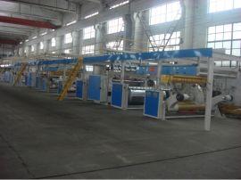WJ-300纸箱机械三层高速瓦楞纸板生产线