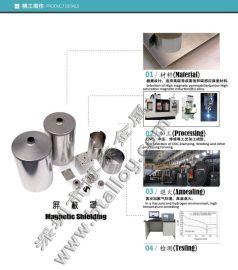 Mumetal合金磁屏蔽罩,屏蔽筒、屏蔽盒
