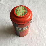 牛蒡茶罐 铁罐咖啡罐 马口铁礼品罐 圆形酒罐