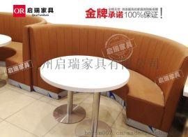 西餐厅桌椅组合咖啡厅甜品奶茶店桌冷饮店卡座网咖茶餐厅沙发桌椅