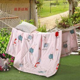 天茂家纺全棉13372活性印花羽丝绒单人1.5米空调夏凉被