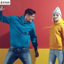秋装企业活动统一制服定制抓绒卫衣套头帽衫工作服男女印字刺绣