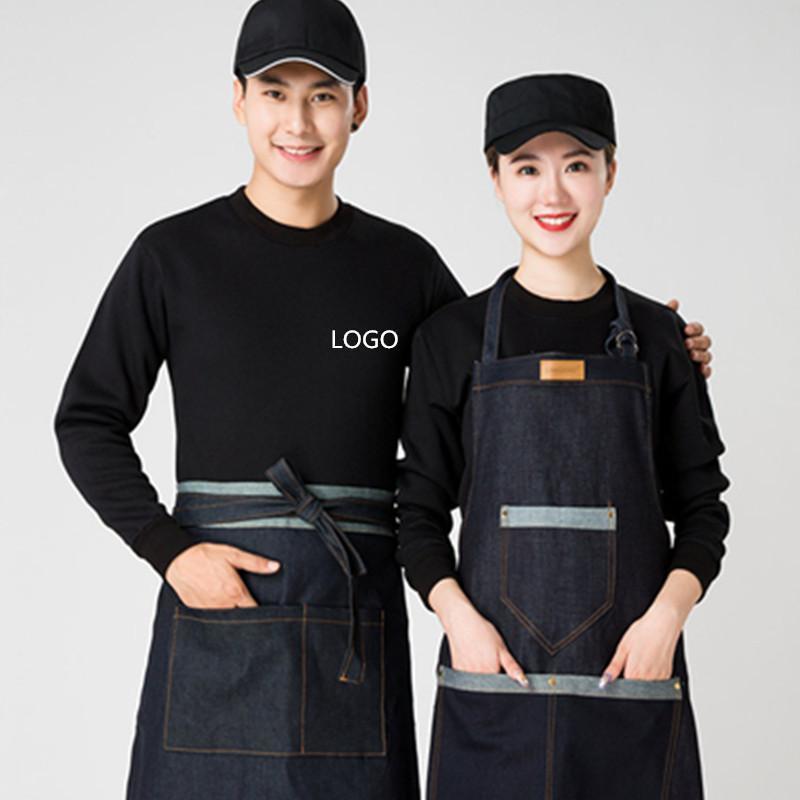 春季衛衣薄款定製班服超市服務員工作服餐飲火鍋店外套