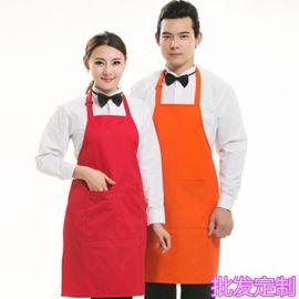 围裙定制可印字广告美甲画画奶茶花店厨房家用