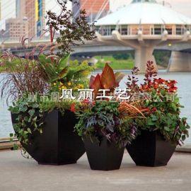 厂家直销 新款玻璃钢花盆户外组合精品玻璃钢花槽价格合理