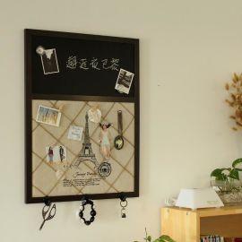 精耐特 zakka创意复古麻绳留言背景黑板 家居收纳布艺软装 壁饰