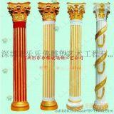厂家供应 柱子罗马柱定做玻璃钢酒店装饰 房地产装饰四方柱包柱