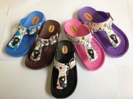 揭阳厂家供应儿童EVA图纹拖鞋