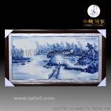瓷板画定做生产厂家_景德镇手绘青花瓷板画定做