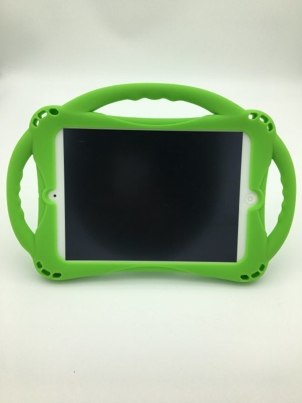 ipad mini1.2.3通用硅胶套_四角气囊防摔_带手柄、带支架
